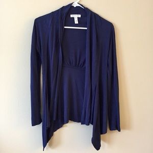 Ambiance Apparel Small Blue Open Cardigan